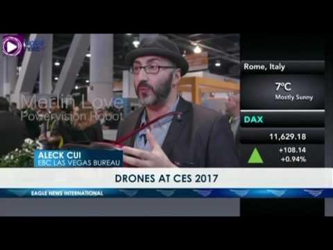 DRONES AT CES 2017 - ALECK CUI OF EBC LAS VEGAS BUREAU