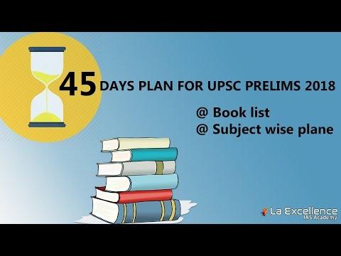 45 Days plan  for  UPSC prelims 2018 | Book list  for civil services | CivilsPrep
