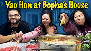 Yaohon Mukbang (Cambodian Hotpot) at Bopha's house