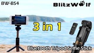 Bluetooth СЕЛФИ ПАЛКА-ШТАТИВ 3 в 1. BlitzWolf BW-BS3 Selfie Sticks