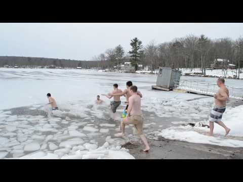 Dining Staff takes a Polar Plunge - Crisis Fund Show 2017