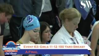 Girls 11 12 100 Yard Breast Day 3 A Final