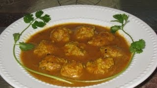 Chicken kofta curry (Chicken meatballs in smooth gravy) recipe