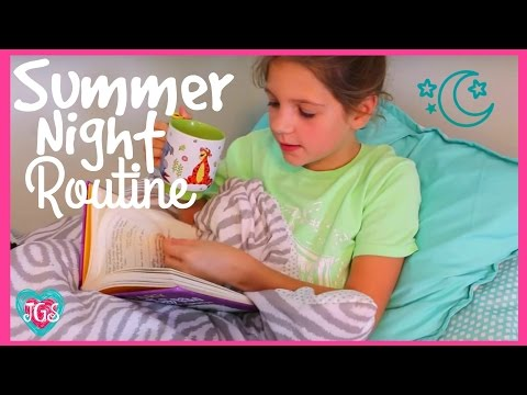 Summer night routine | Annie's routine for summer night and bedtime | Annie & Hope Jazzy Girl Stuff