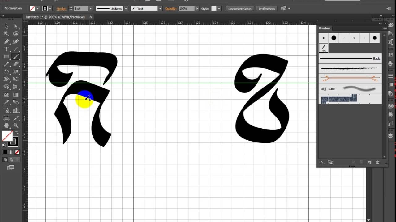 Calligraphic Brush In Illustrator Youtube