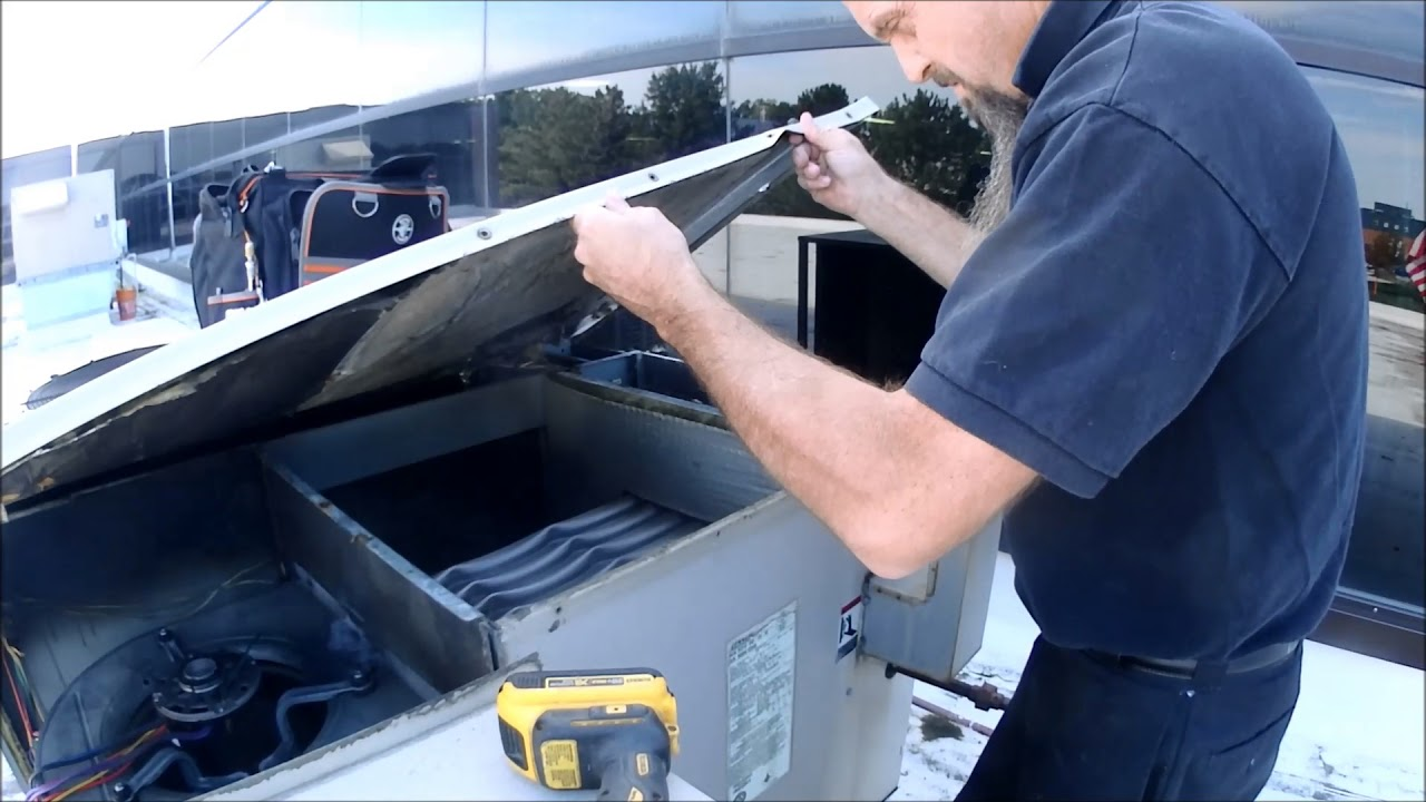 Service Call On Lennox Roof Top Unit Gcs16 Youtube