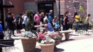 Roula & Ryan Show Flash Mob at Cafe Express