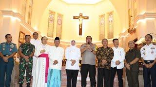 Ketua MUI Jatim Masuk Gereja di Surabaya Bersama Gubernur, Kapolda, Pangdam dan Pangarmatim