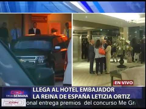 Con amplio dispositivo de seguridad llega reina de España Letizia Ortiz a RD