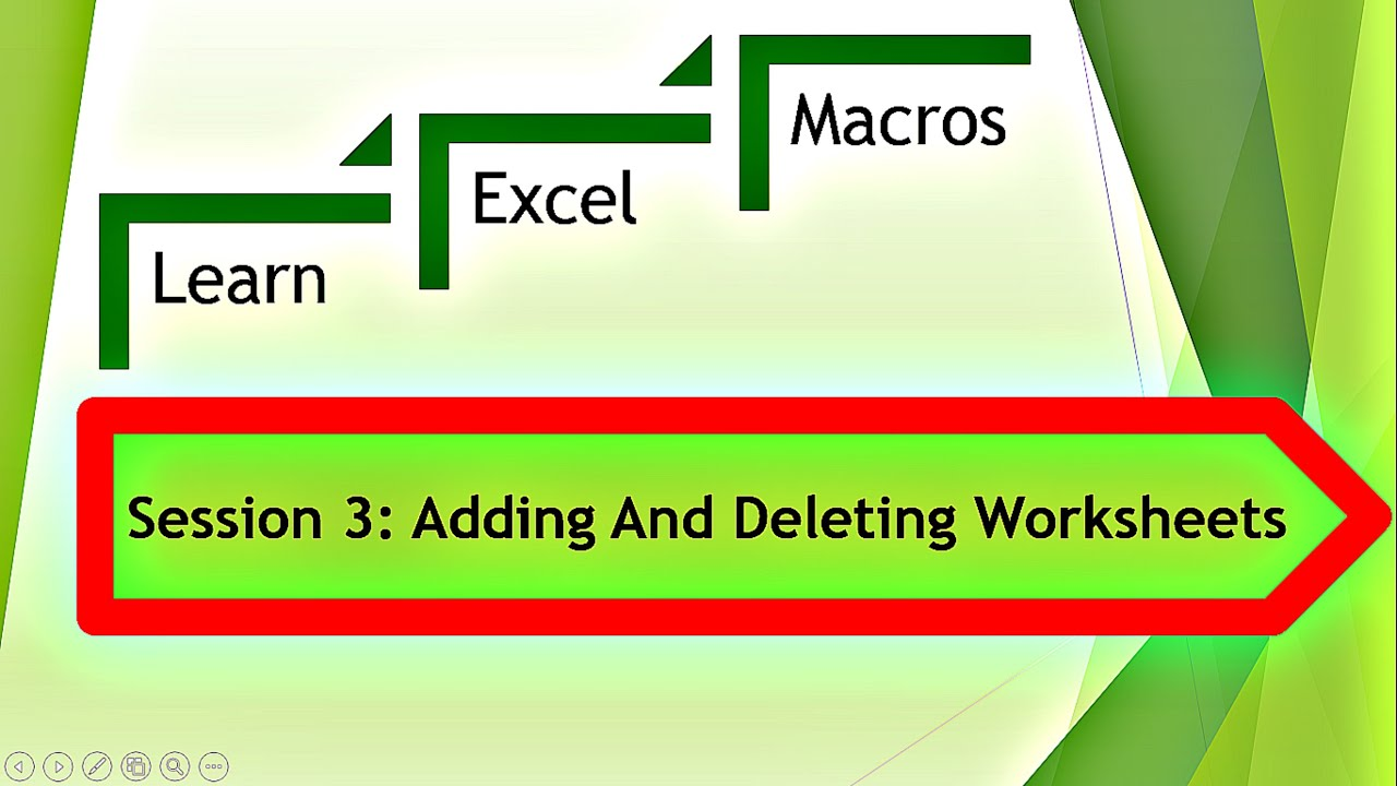 Excel Macro VBA For Adding And Deleting Excel Worksheets YouTube – Vba Add Worksheet