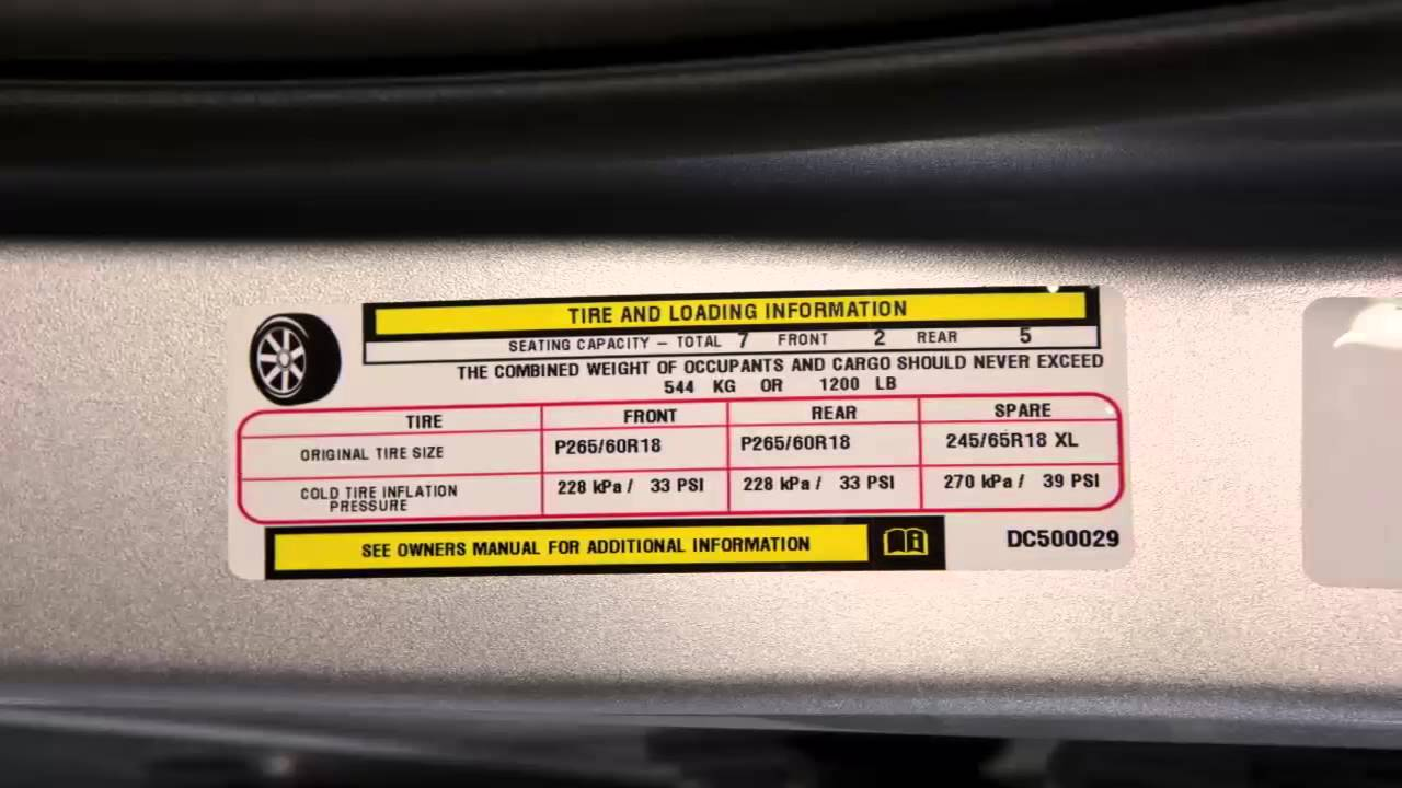 2015 Dodge Grand Caravan Tire Pressure Monitoring System
