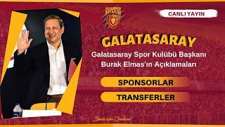Galatasaray Spor Kulübü Başkanı Burak Elmas'ın Açı