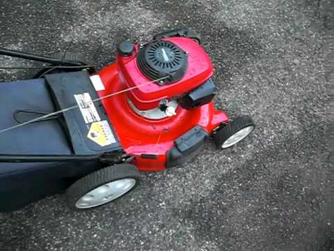 21 Troy Bilt 5 0hp Honda Ohc Lawnmower Youtube
