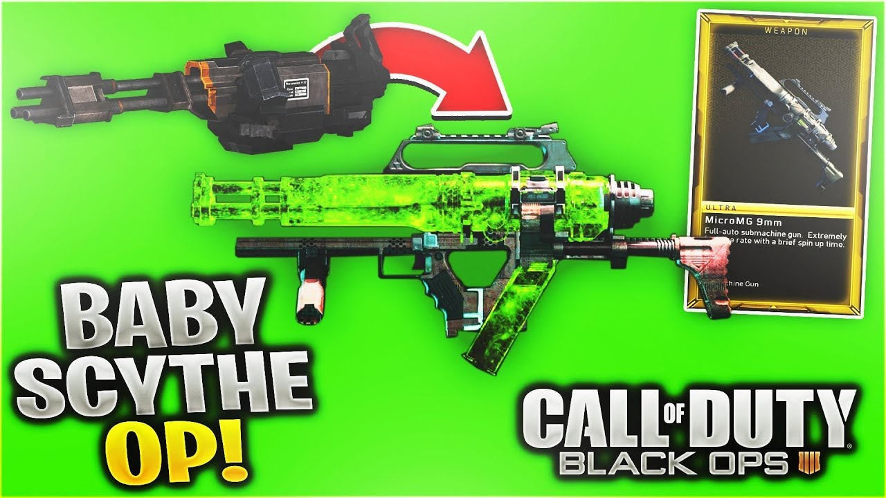 New Baby Scythe Bo4 Micromg 9mm Weapon Gameplay On Black Ops 4