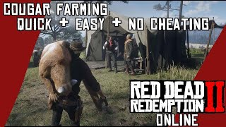 Red Dead Online - Cougar Farming! Quick and easy hunting materials for Trader role