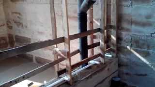 Дом из опилкобетона армирование стены и монтаж трубопровода холодного водоснабжения 27 09 2015