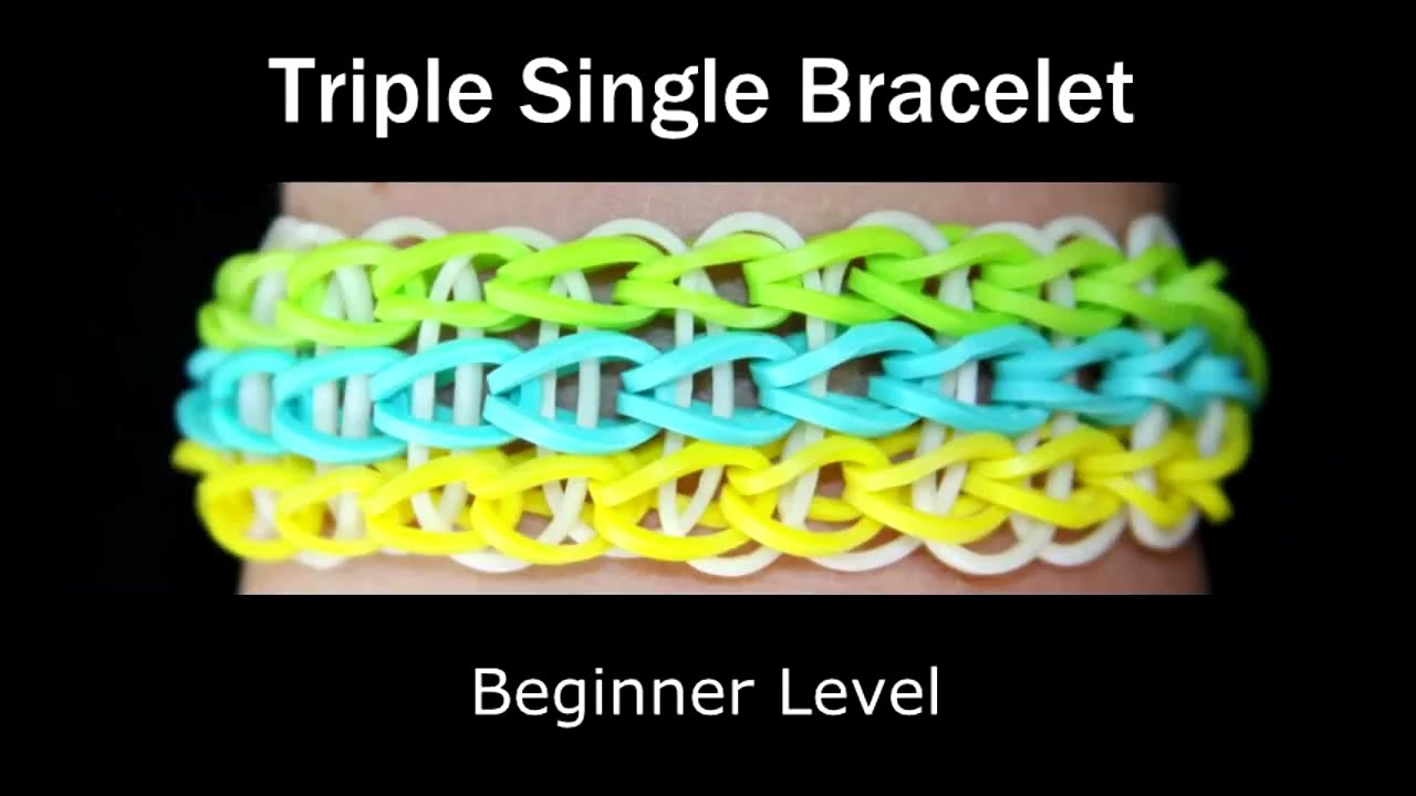 how to make a wristband out of rubber bands