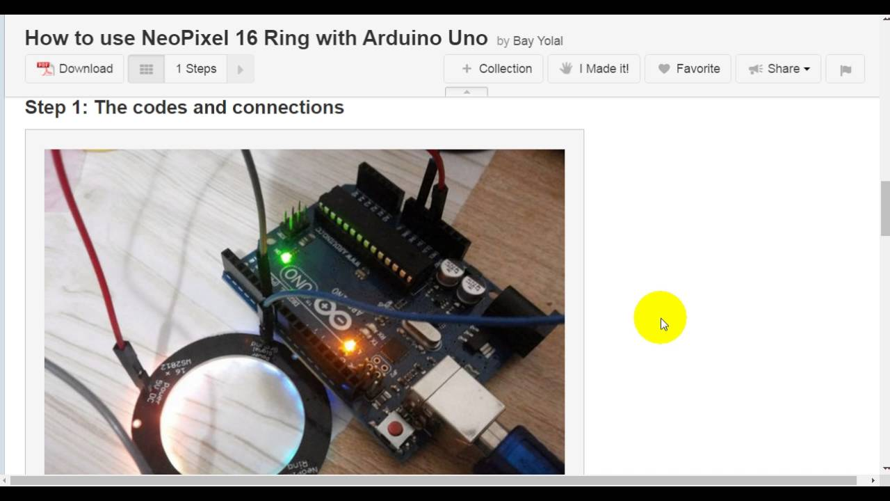 How to Use NeoPixel 16 Ring With Arduino Uno