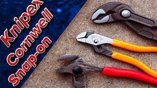 Knipex vs Snap-on vs Cornwell Pliers.