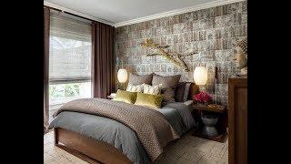 шторы к коричневым обоям и коричневым стенам