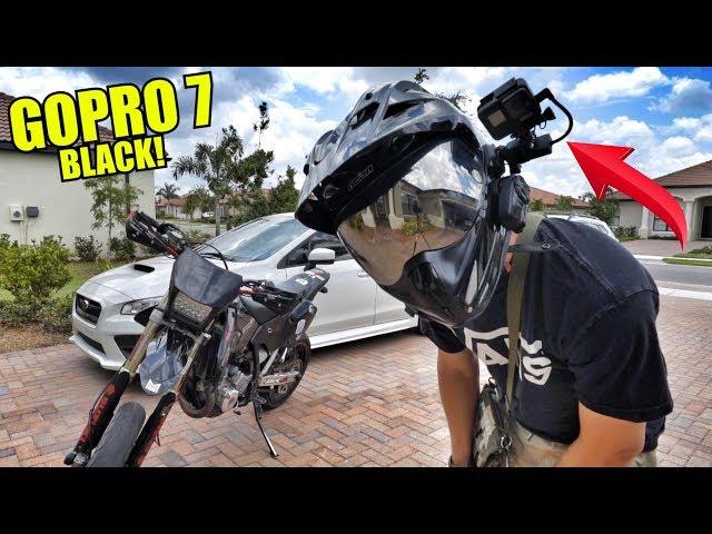My Motorcycle Helmet GoPro Setup!