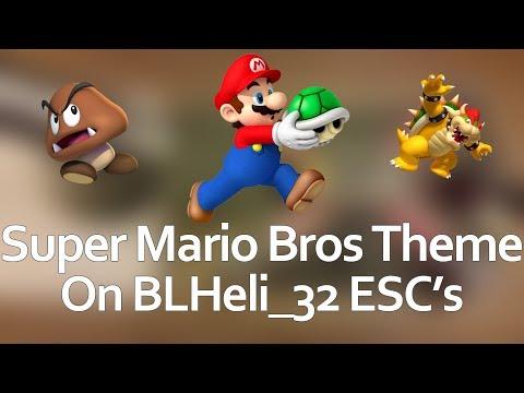 Super Mario Bros Theme on BLHeli_32 ESC's - Startup music