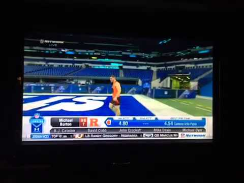 Michael Burton 40-yard dash