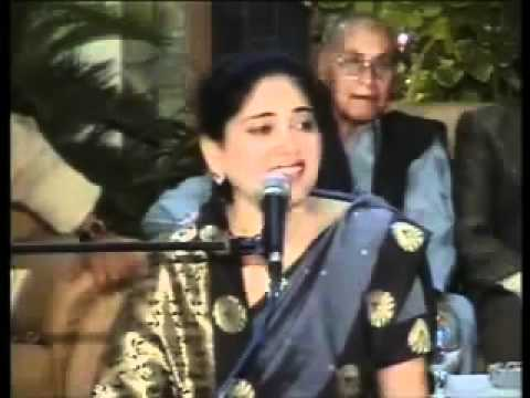 YouTube - Dr Nuzhat Anjum of Gorakhpur India (4 Ghazals) Mushaira part 1-2.flv