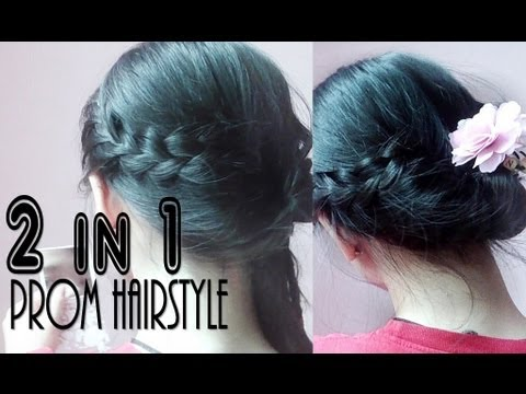 2 In 1 Simple Korean Hairstyle Youtube