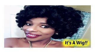 Affordable Natural  looking curly wig| Bantu knot/Twist Out Style!