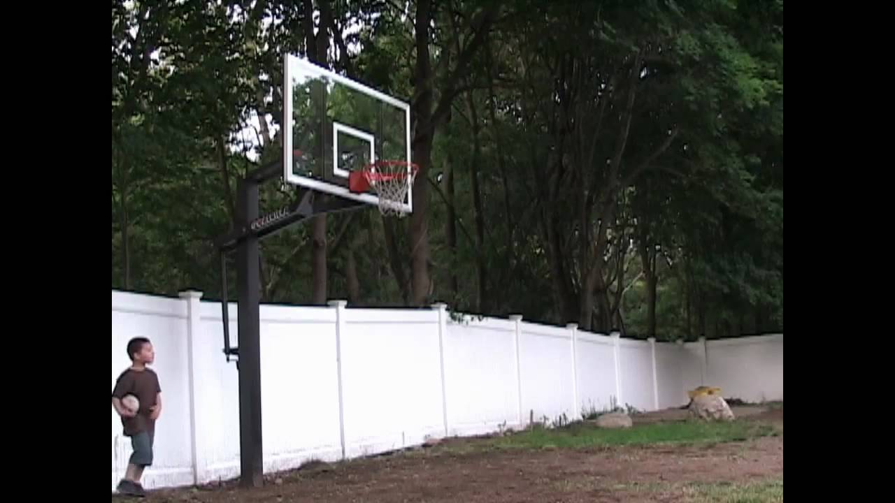 David Dunking On A Goalrilla Basketball System Youtube