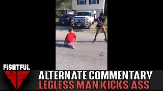 Man Without Legs Beats Up Opponent | Fightful Street Fight Alternate Commentary