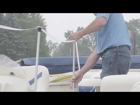 Creating a Support Structure for your Pontoon Cover | Pole Kit from Transhield