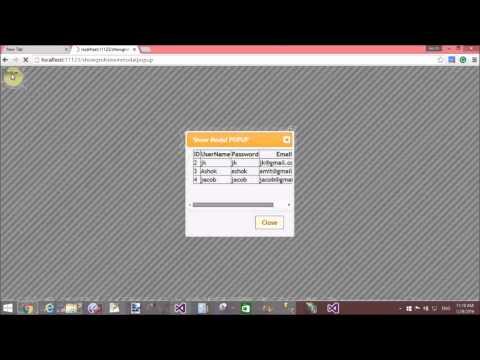 ASP NET GridView show in JQuery Modal Popup part-2