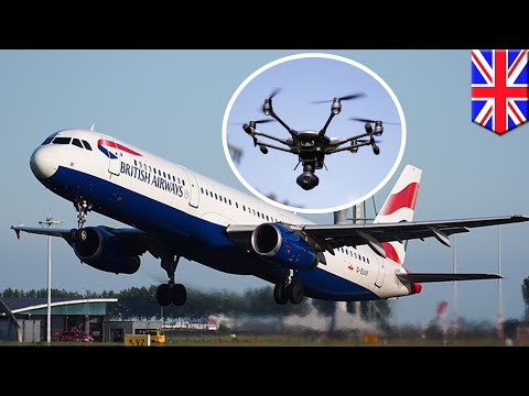 Gatwick Airport shut down by rogue drones on runway - TomoNews