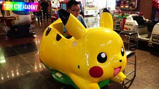 Indoor Playground Family Fun Play Area for Kids with Pokemon,Train and Doremon | Nursery Rhymes Song