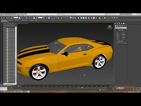 3DS Max. Анимация машины в Craft Director Studio.