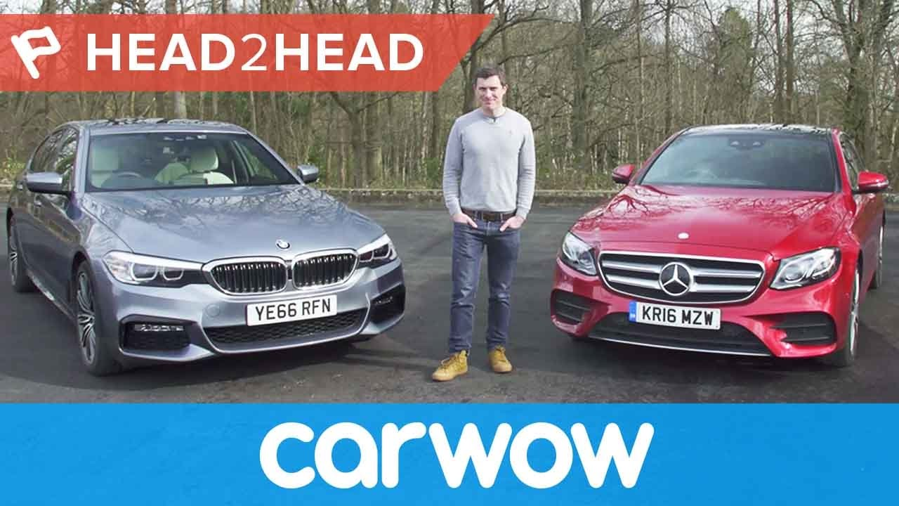 BMW 5 Series vs Mercedes E-Class 2018 review - which is best? | Head2Head