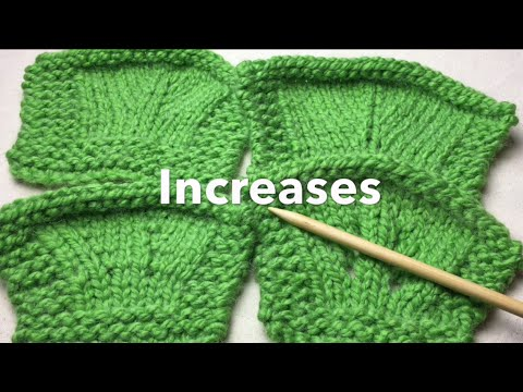 Needle Knit Increases Make 1 M1 M1r M1l Lifted Knit Front