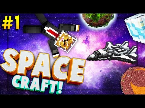 Minecraft SPACE CRAFT - TO THE MOON - Modded Survival #1