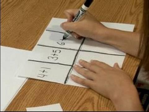 Math Games For Kids : Playing Advanced Arithmetic Bingo