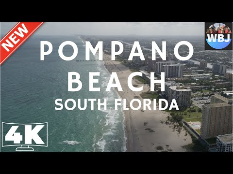 4k-video-ultra-hd-fly-away-to-pompano-beach-florida---pier-and-lighthouse