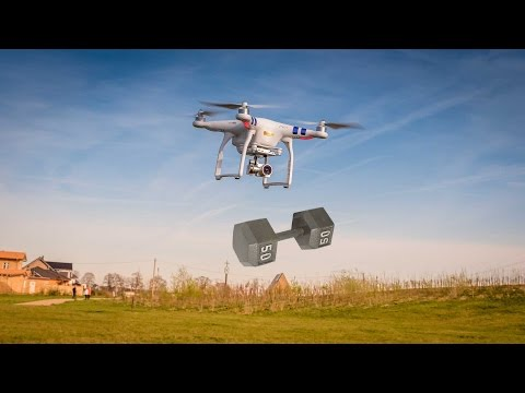 DJI Phantom 3 Payload Test | How much Can Phantom 3 Pick Up?