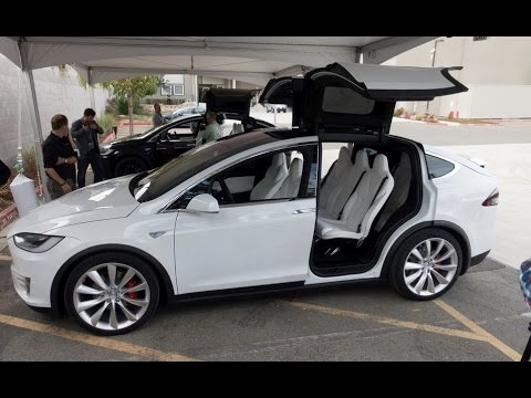 Tesla Model X SUV Exterior & Interior - YouTube
