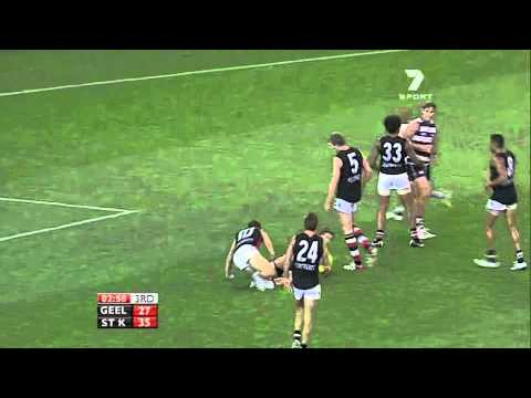 Mitch Duncan Superb mark and goal - 2011 AFL Round 1