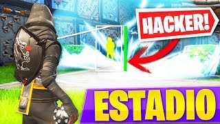 PLAYING WITH A *HACKER* TO THE NEW FORTNITE GAME PATIO: Battle Royale GAMING GAME!