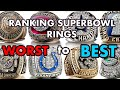 Ranking Every Super Bowl Ring WORST To BEST