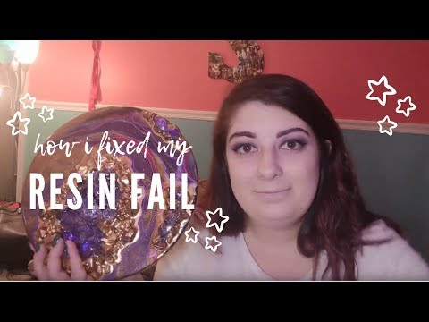 FIXING MY RESIN FAIL - a geode resin art tutorial by SamanthasDoodles