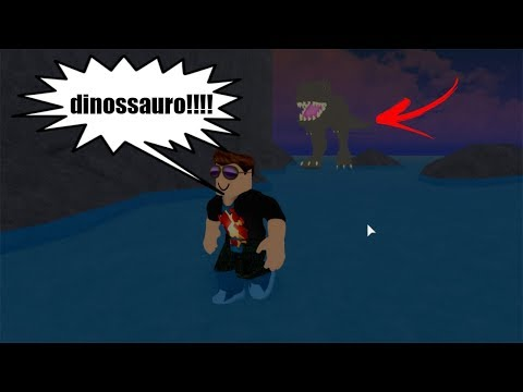 ROBLOX: FUGINDO DO DINOSSAURO GIGANTE! (Dinosaur Hunter)