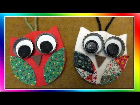Easy Owl Christmas Ornaments Youtube